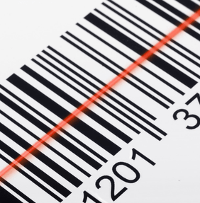 Read print out of box bar code