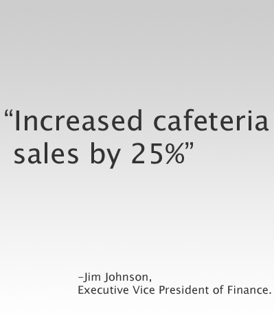 Increased Cafeteria Sales By 25%