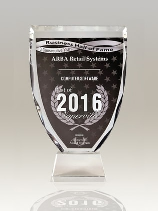 2016 ARBA Retail System Computer Software award POS System Inventory Management
